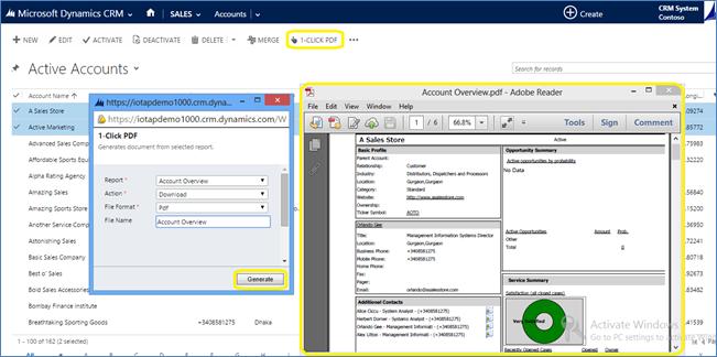 1 click PDF configuration