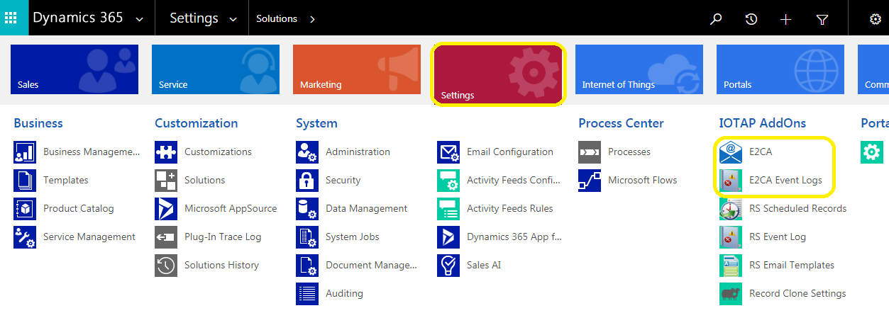 E2C Dynamics 365 Addition