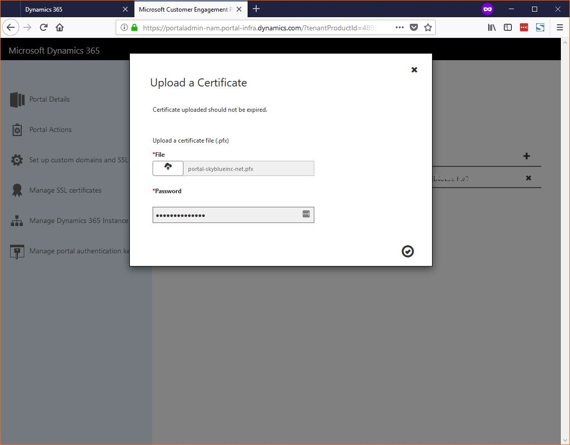 Upload a Certificate