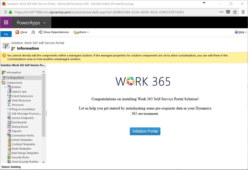 work 365 self service portal